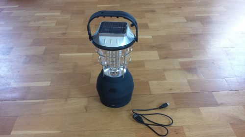 All-round Outdoor Solar Lamp with powerbank function