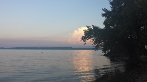 Take a refreshing sunset swim in Lake Neuchâtel!