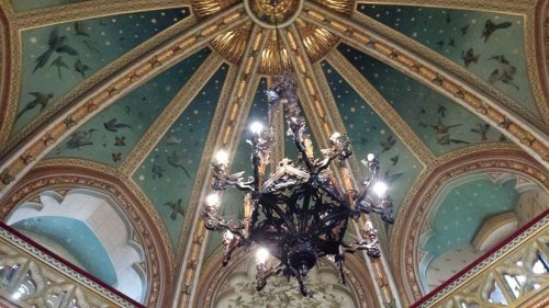 Ceiling of the drawing room at Castle Coch