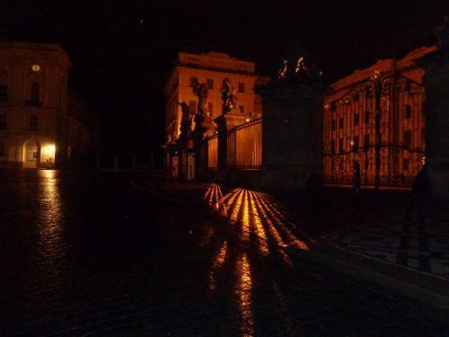 Der Hradschin bei Nacht