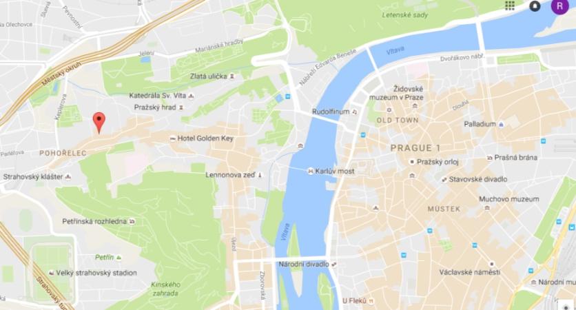 Alles ganz nah beieinander - am besten beginnst Du Deine Tour durch Prag auf dem Hradschin!