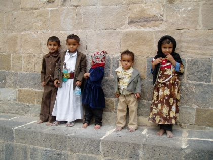 Jemenitische Kinder 2007 - vor der Katastrophe (c) Kiki Flegel
