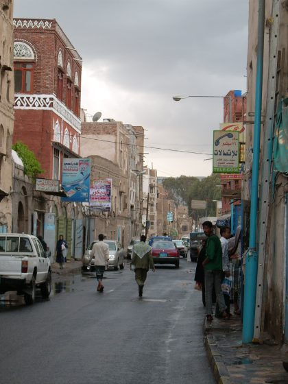 Stadtverkehr Sana'a bei Tag